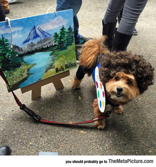 funny-Bob-Ross-dog-costume