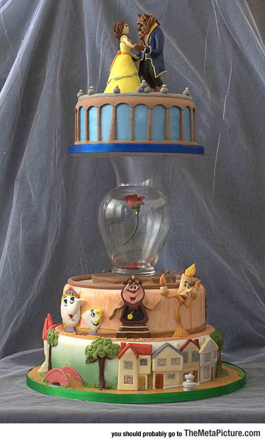 Awesome Beauty And The Beast Cake
