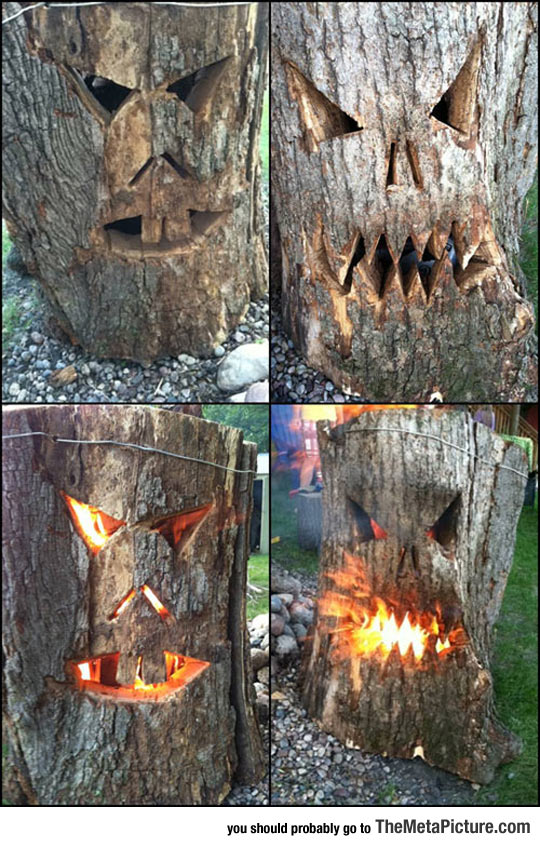 funny-log-carved-face-fire