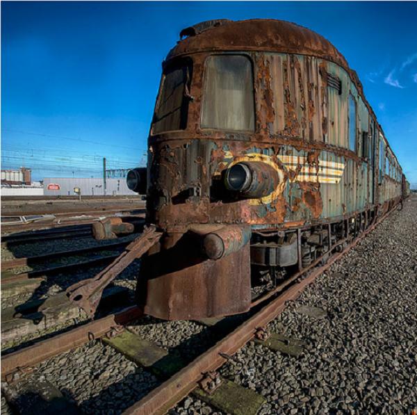 An abandoned luxury train.