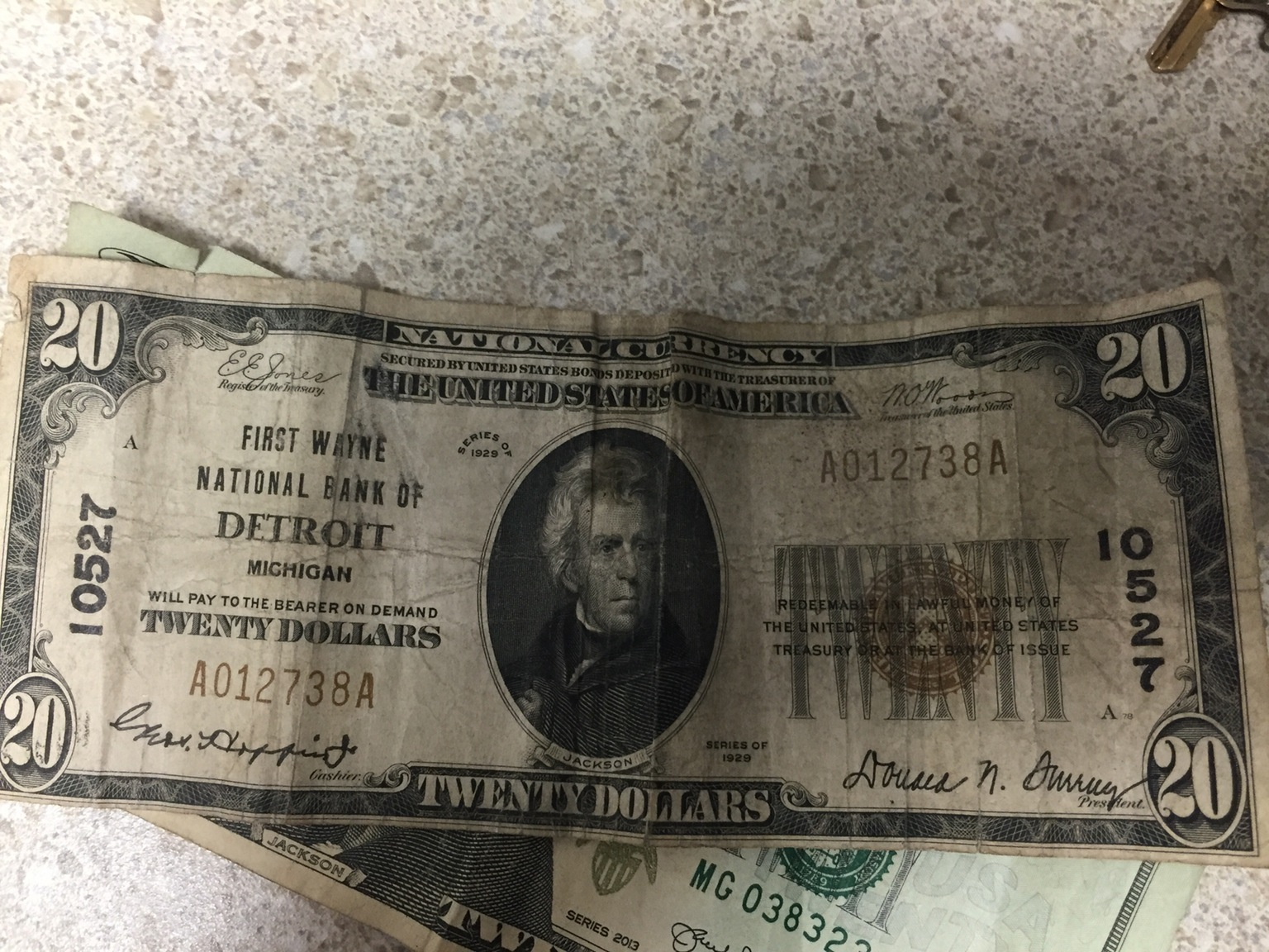 Easily the oldest bill I've ever seen