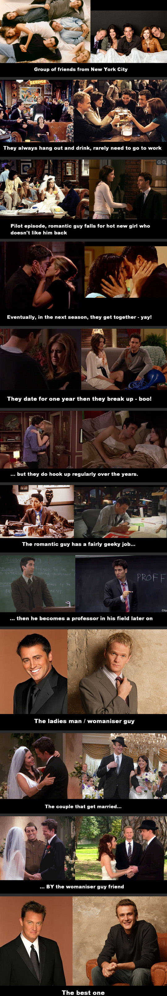 Friends Or How I Met Your Mother Yahoo : Friends vs how i met your mother