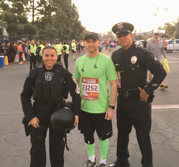 LAPD Officer Kristina Tudor ran & finished the LA Marathon in full tactical uniform for charity