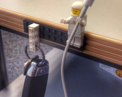 Clever LEGO Key And Cable Holder