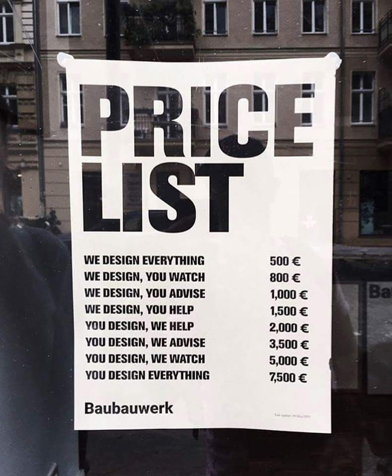 That's a perfect price list