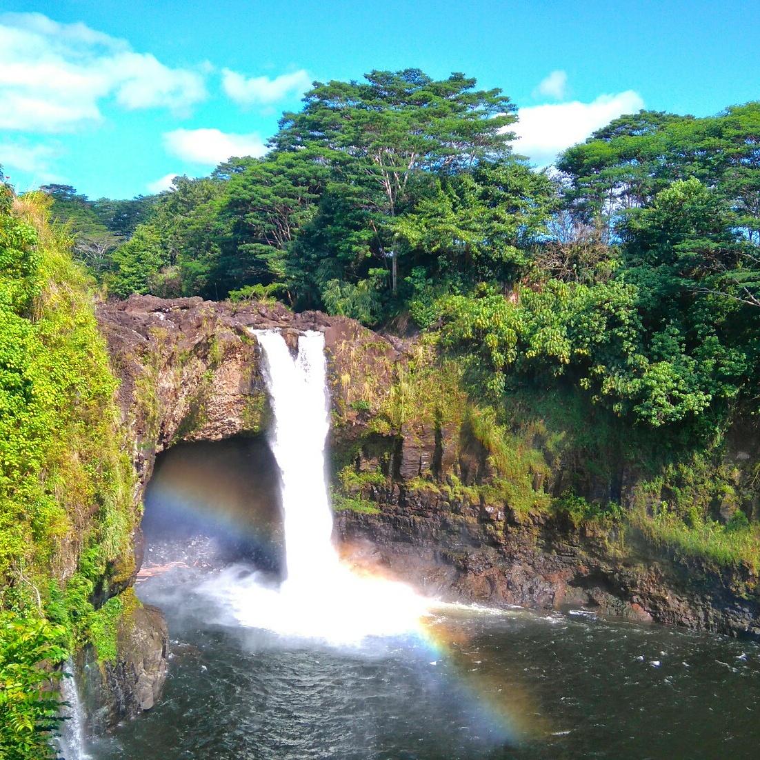 The Rainbow Falls in Hilo, Hawaii