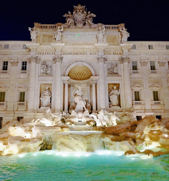 The famous Trevi Fountain