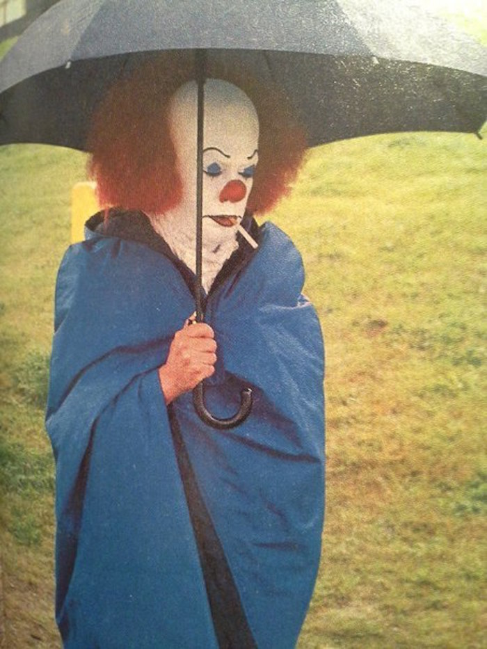 Tim Curry, while filming IT