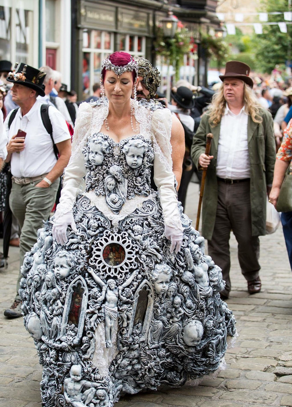 Woman's dress at steampunk festival