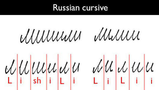 Russian Cursive Is Not Easy