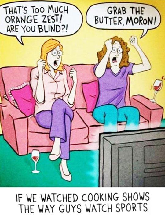 cool-cartoon-women-watching-tv-sports