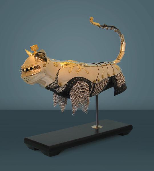 cool-cat-armor-medieval-golden