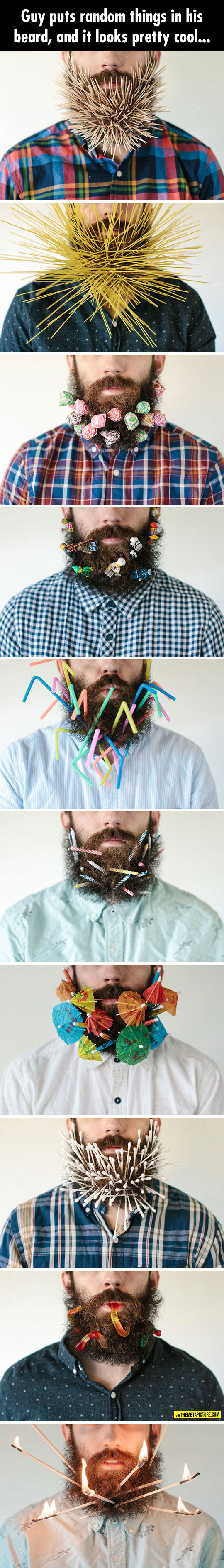 When You Are Bored And Have A Beard