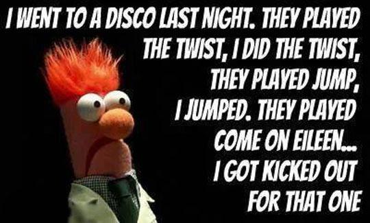 So I Went To A Disco