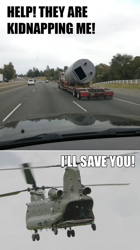 cool-truck-highway-face-helicopter-rescue