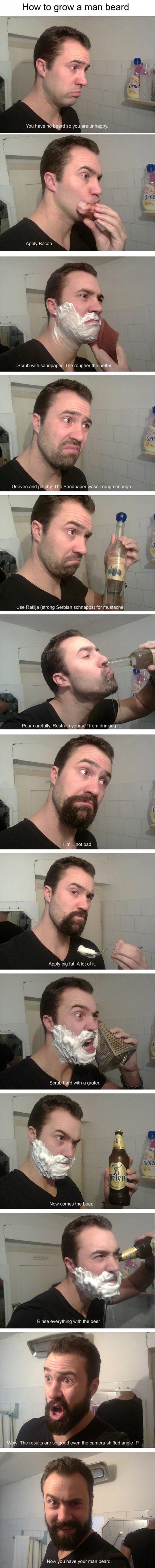 The Proper Way To Grow A Man Beard