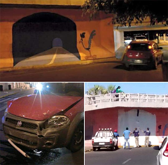 funny-road-runner-painting-wall-real