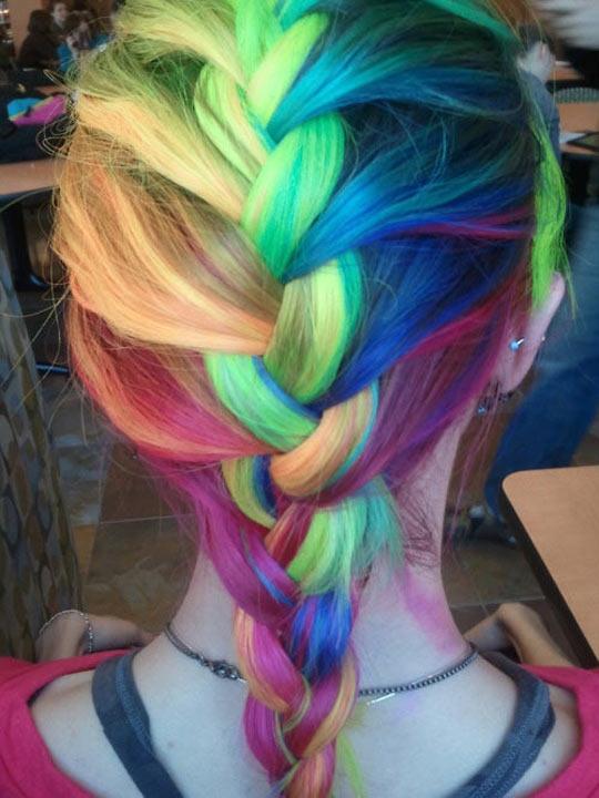 style-rainbow-hair-dye-colors-green