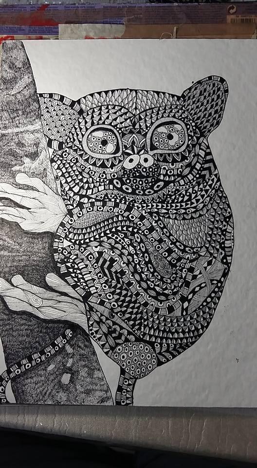 A tarsier doodle