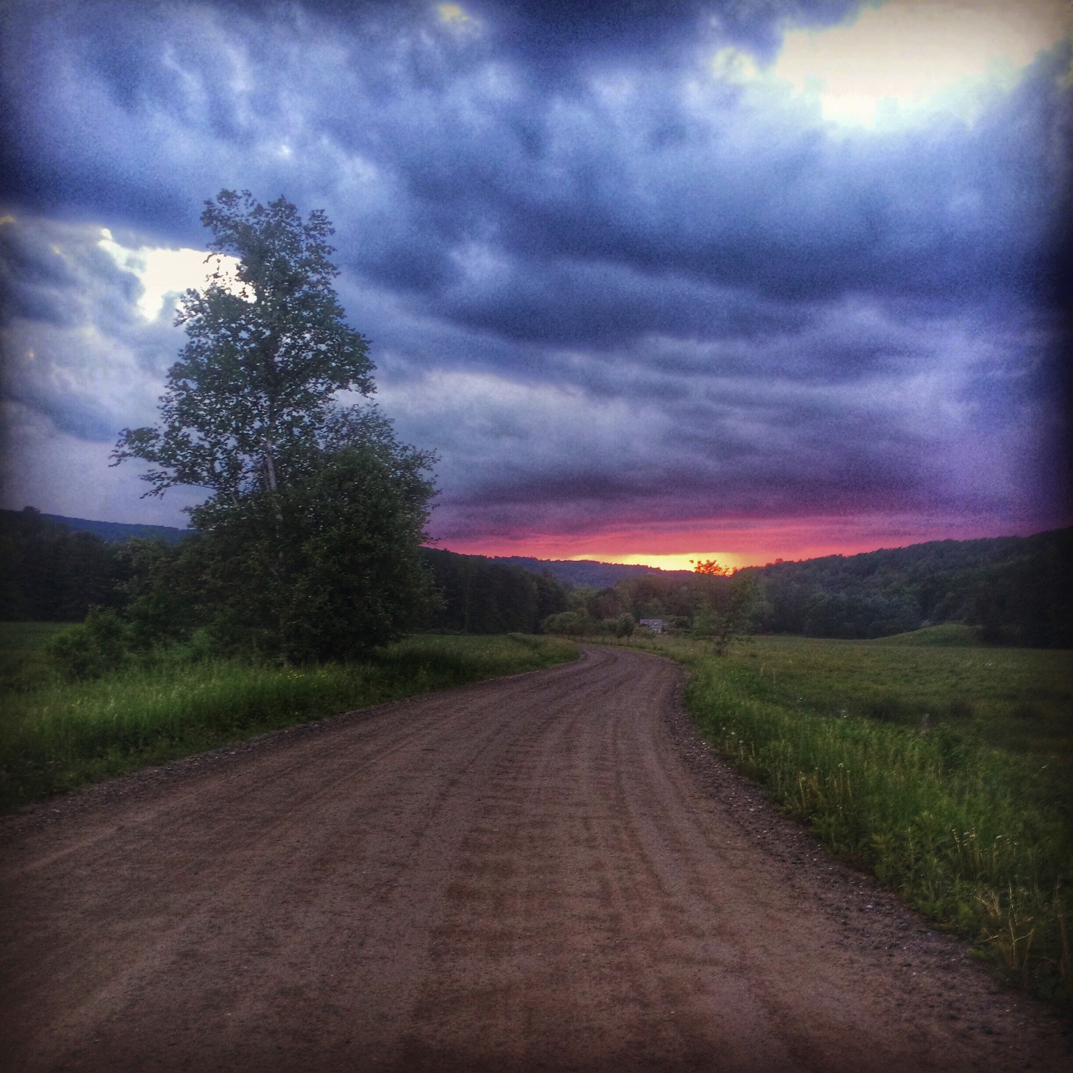 Backroad in mid Vermont, just before a storm.