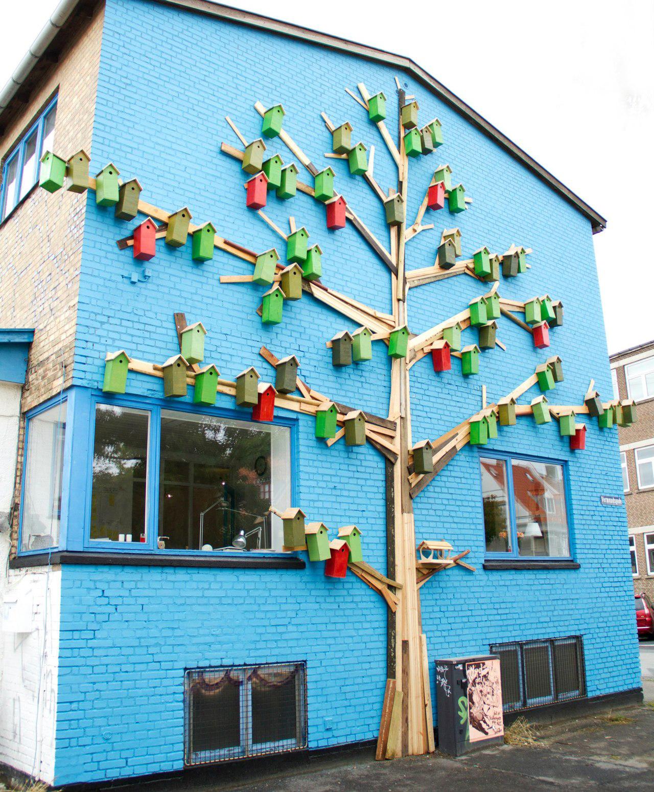 Birdhouse tree in Copenhagen