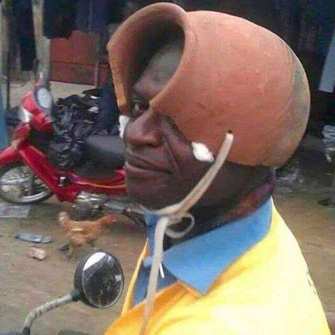Colombian motorcycle helmet