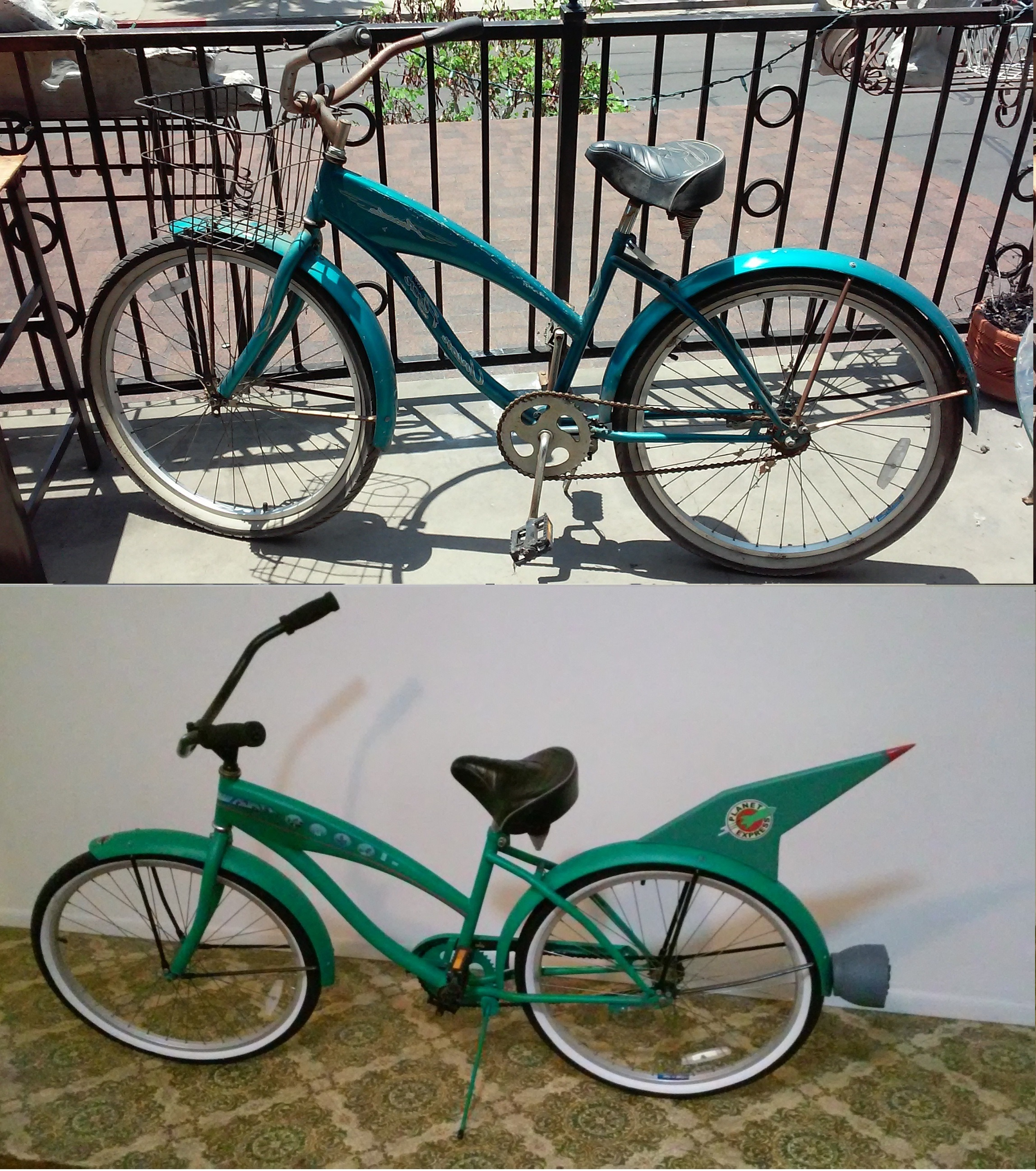 Found a beat up bike at the thrift store and gave it a makeover.