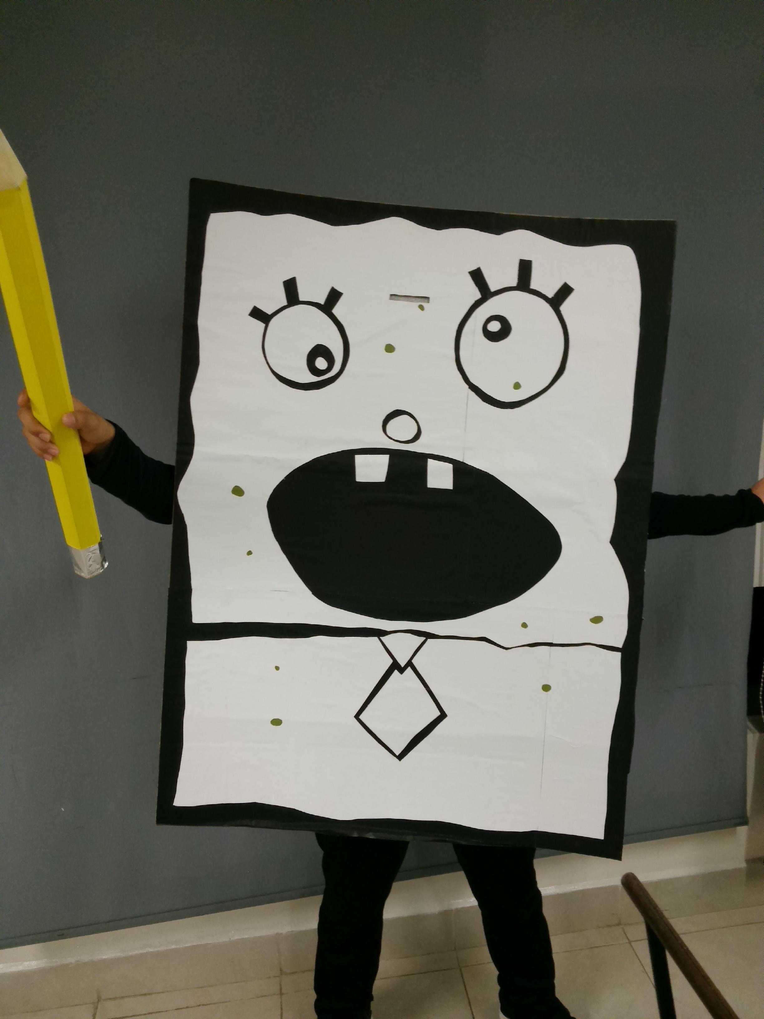 My doodlebob costume for Halloween