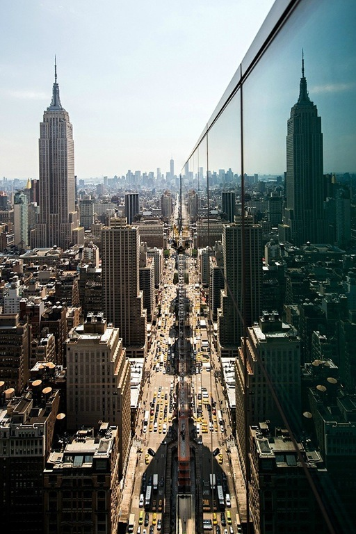 Perfect Reflection of the Empire State Building