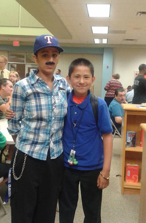 Single mother dressed up as a dad to take her kid to 'Donuts With Dad' day at school