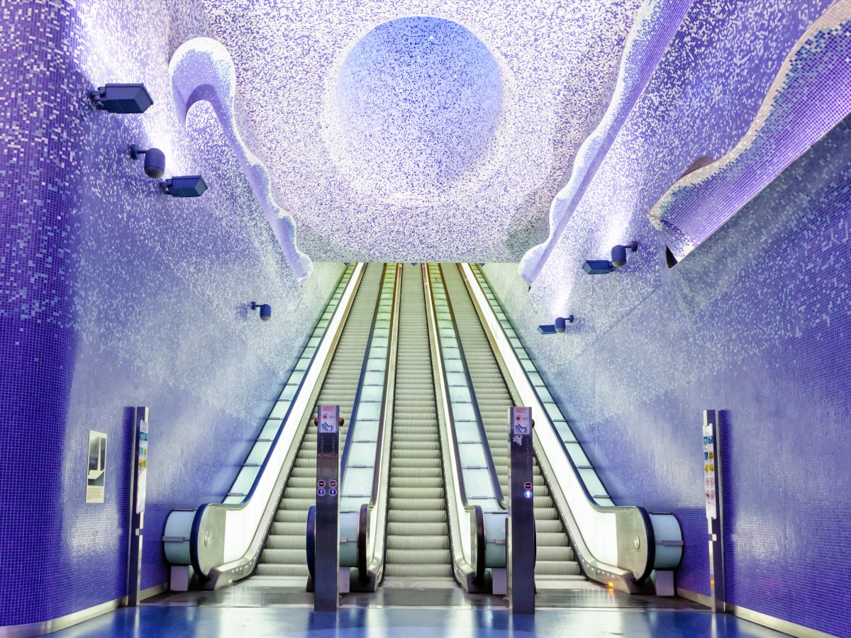The Toledo station in Naples, Italy, is filled with incredible artwork.