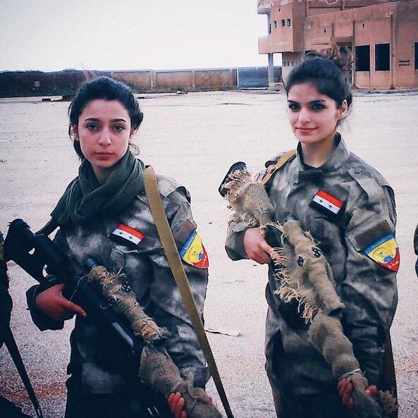 Two Female Syrian Arab Army Snipers