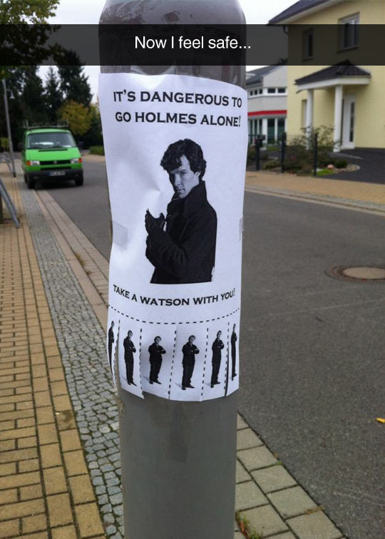 Dangerous To Go Holmes Alone