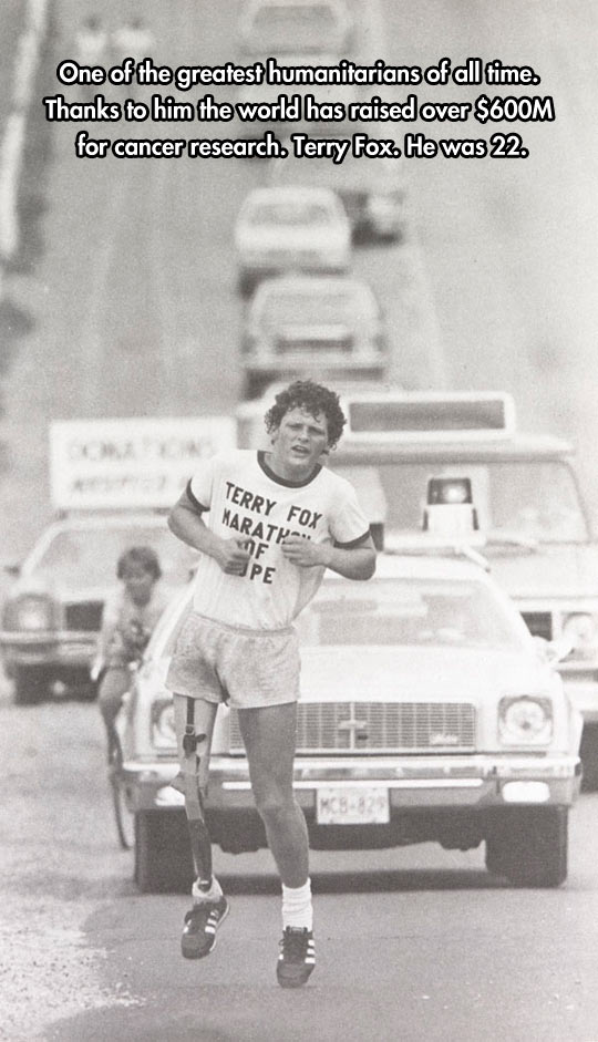 Thanks, Terry Fox