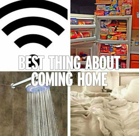 Satisfying Things About Coming Home
