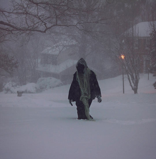 Convinced Husband To Go Out In A Blizzard Dressed As Death, Neighbors Stared