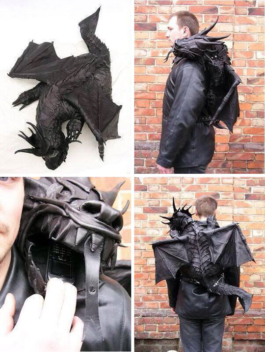 cool-dragon-leather-backpack