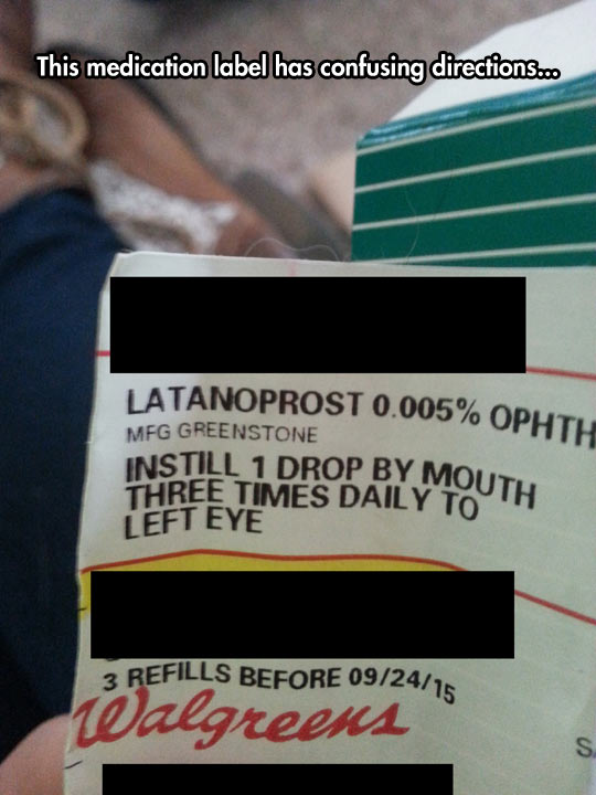 Medication Directions