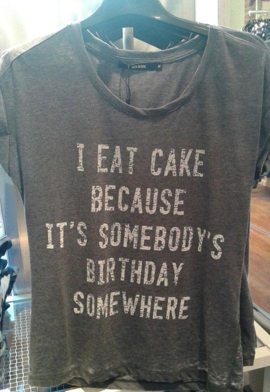 The Reason I Eat Cake