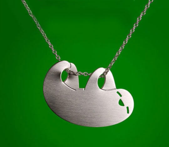 cool-sloth-necklace-chain-hanging