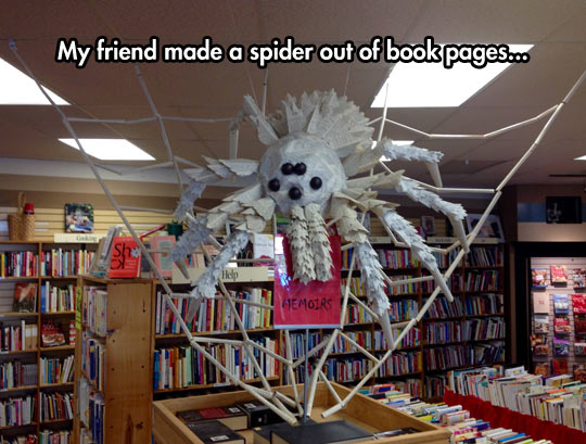 cool-spider-bookstore-pages-Halloween-decoration