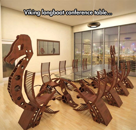cool-viking-longboat-conference-table