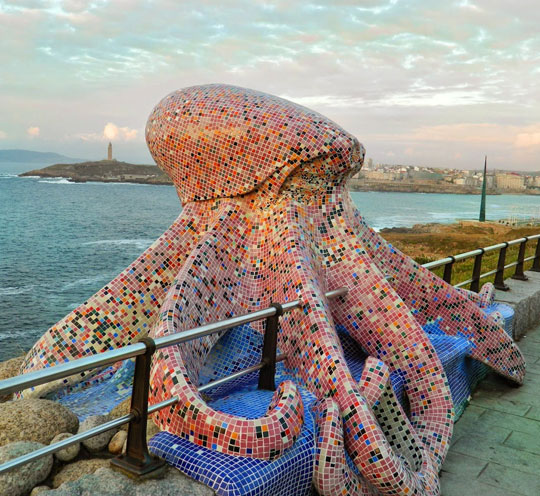 Mosaic Octopus In Spain