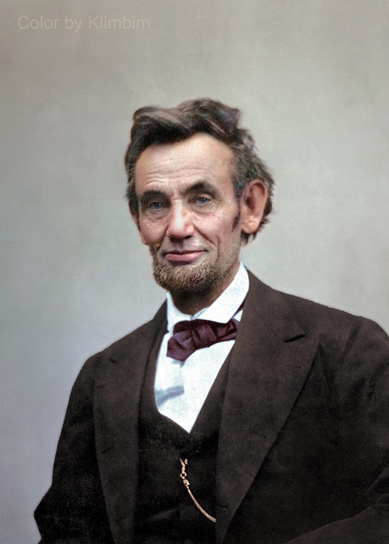 Abraham Lincoln in color