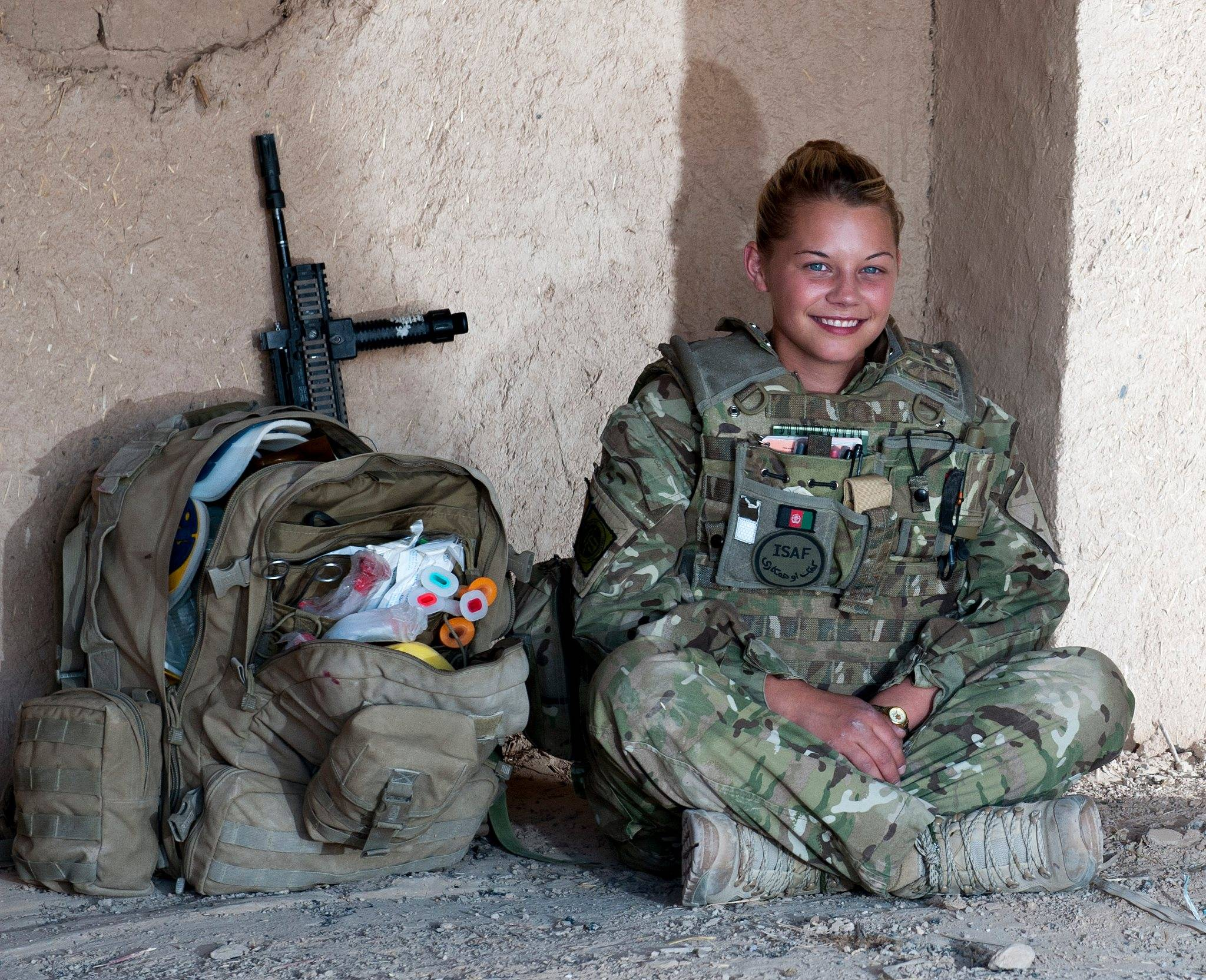 British Army combat medic in Afghanistan
