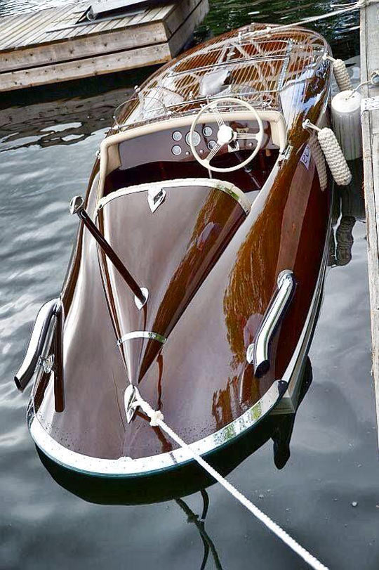 Classy Wooden Boat