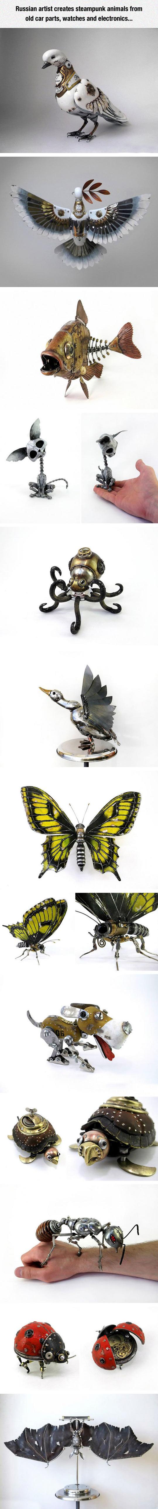 artist-steampunk-animals-dove-cat