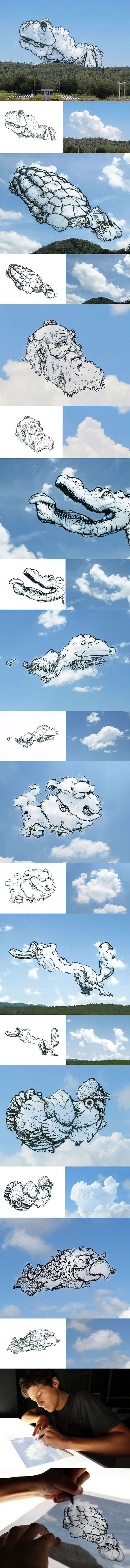 Artist Converts Clouds Into Illustrations