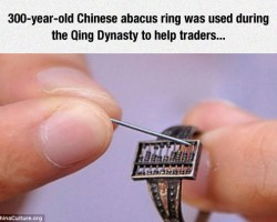 Ancient Abacus Ring