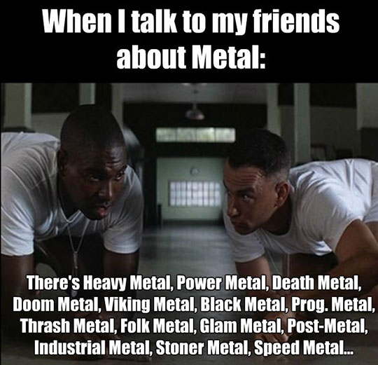 So Many Subgenres Of Metal